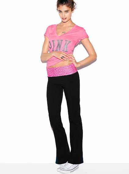 Victoria´s Secret Pink Remera Con Brillos Talle M