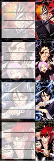 Etiquetas De Colegio De Anime De Bleach Ichigo Rukia Renji