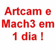 Curso De Artcam E Mach3 Em Um Dia, Curso Presencial ! ! !