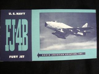 Avião Catálogo Antigo Fj- 4 B Fury Jet Publicação Antiga
