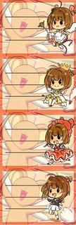 Etiquetas De Colegio De Anime De Card Captor Sakura