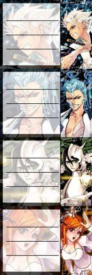Etiquetas De Colegio De Anime De Bleach Hitsugaya Ulquiorra