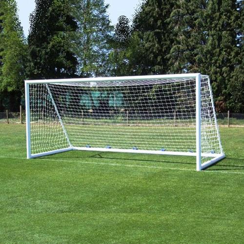 Imagen 1 de 10 de 1 Red Arco Futbol 11 Profesional 7,5 X 2,5m Trapezoidal Reglamentaria Torneos - Resiste Agua Y Sol