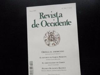 Revista Occidente 264 Mayo 2003 Morente Carmen Blanchot Balt