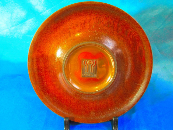 El Arcon Plato Artesanal De Madera Y Cobre Mundial 78 3501