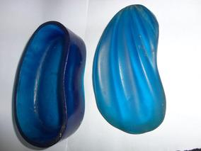 Saboneteira Azul Em Resina
