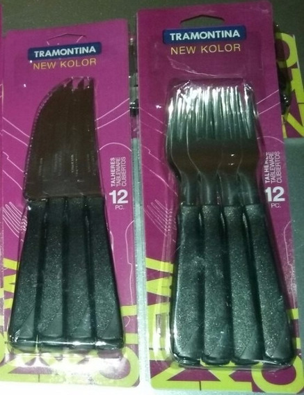 Cubiertos Tramontina X 24 Piezas New Kolor Cuchillo Tenedor