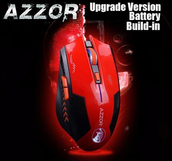 Mouse Gamer Azzor Sem Fio 2400 Bateria Litio Recarregavel