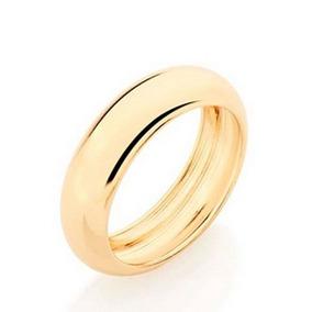 Aliança 6 Mm Rommanel Casamento Folheado Ouro 510919 Oferta