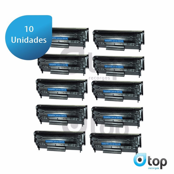 Kit 10 Toner Compatível Hp 2612a 1010 1015 1018 1020 1022