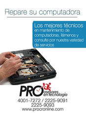 Servicio Tecnico Reparacion Mantenimiento Laptop Portatil Pc