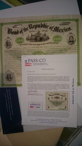 Bonos Mexicanos - 04 Presidentes Con Passco - En Lima