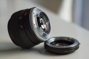 Minolta 58mm 1.2 Mc Rokkor + Adaptador Canon (pode Sony Tb)