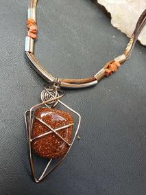 Colar Semi Jóia Com Pedras Naturais Preciosas Pedra Do Sol 1