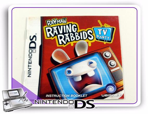 Manual Rayman Raving Rabbids Tv Part Ds Original Nintendo Ds