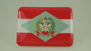 Bandeira Santa Catarina Bandeirinha Resinada Adesivo Paises#