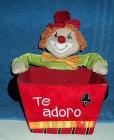 Porta Guardanapos De Palhaço Em Veludo E Feltro (a.k3)
