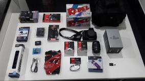 Canon T5 + 4 Lentes + 32gb + 2 Baterias + Bolsa + Acessórios