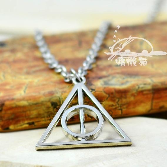 Colar Reliquias Da Morte Harry Potter Centro Fixo
