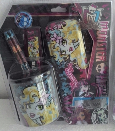 Set Escolar 6 Pzas  Sofia - Monster High    Lic. Original