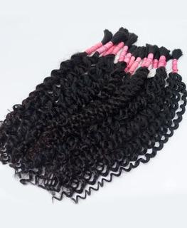 Cabelo Humano Mega Hair Cacho Caipira 65cm 100g