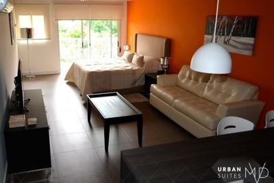Espectacular Monoambiente Amueblado Con Servicios De Hotel