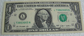 Estados Unidos - 1 Cédula Original De 1 Dólar Ano 2017 - Fe