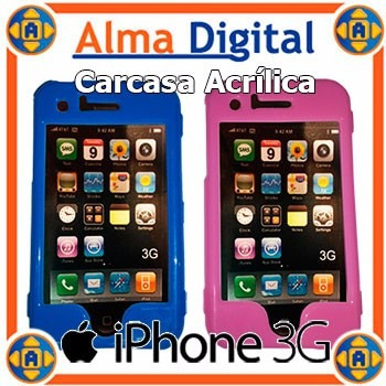 Carcasa Acrilico iPhone 3 Apple Estuche Protector Plastic 3g