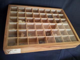 Caja Exhibidora Con Colección De Minerales 3