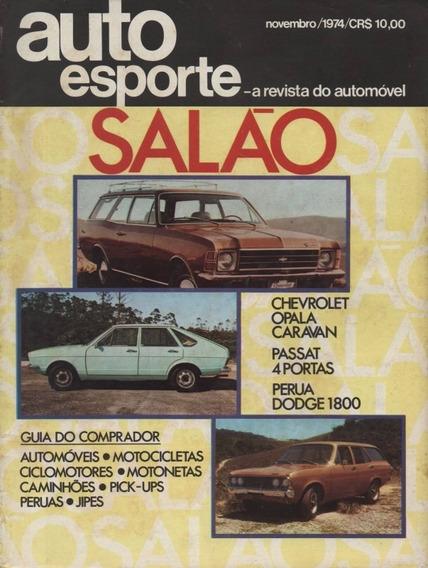 Auto Esporte Nº121 Salão 1974 Opala Caravan Suzuki Gt 185