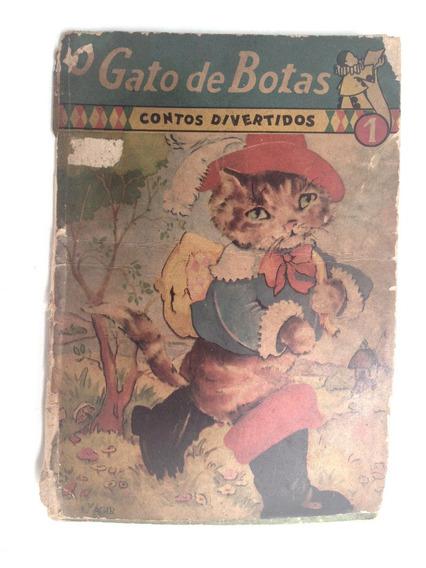 Raro Livro Gibi Antigo O Gato De Botas Editora Agir 1954 Nr1