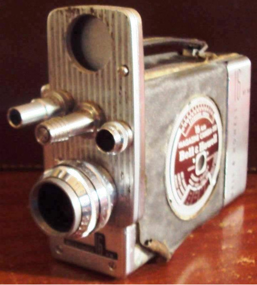 141 Prd- Antiga Filmadora 1951- Bell E Howell- 16mm Made Usa