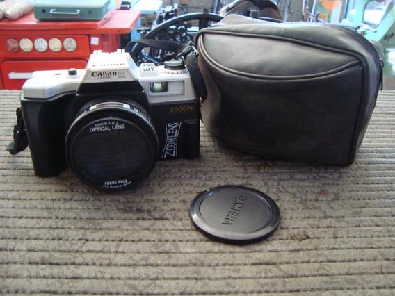 Antiga Camera Fotografica Canon Eos 500n Com Flachi E Bolsa