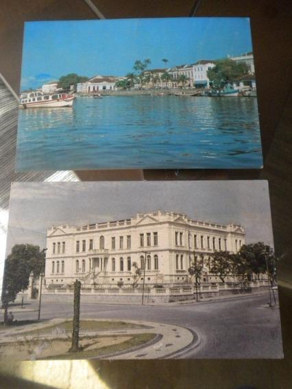 Lote Com 2 Cartões Postais Antigos Paranaguá Paraná
