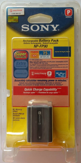 Bateria Original Sony Np-fp90 Recarregavel 7.5h