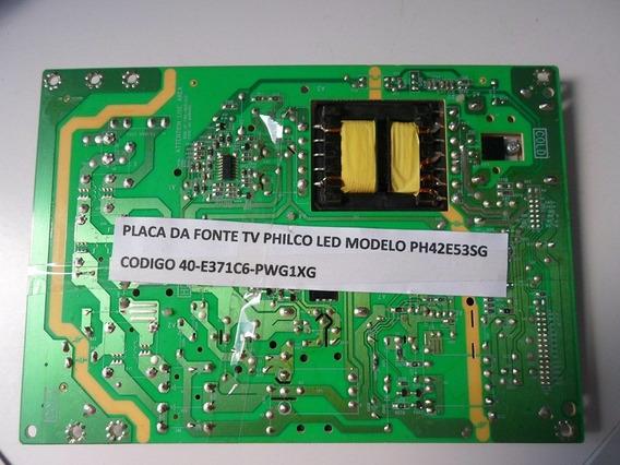 Placa Da Fonte Tv Philco Led - Modelo Ph42e53sg