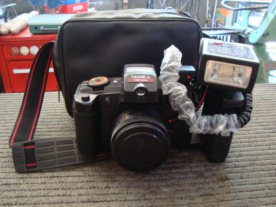 Antiga Camera Fotografica Yahica Trip 35a Com Flachi E Bolsa