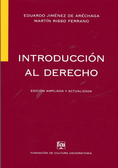 Libro: Introducción Al Derecho / Jiménez De Aréchaga