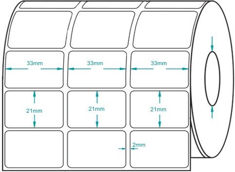 Etiqueta Adesiva 3 Carreiras 33x21