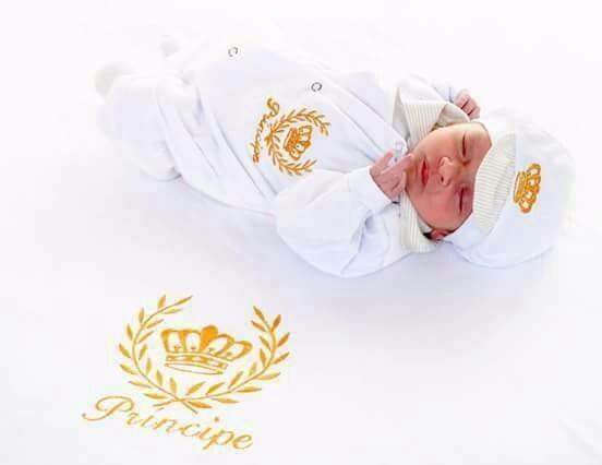 Kit Saida Maternidade Menino Príncipe
