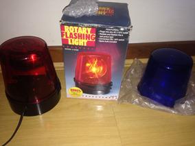 Luz Piscante Rotativa Modelo D400 Importada Vermelha/azul