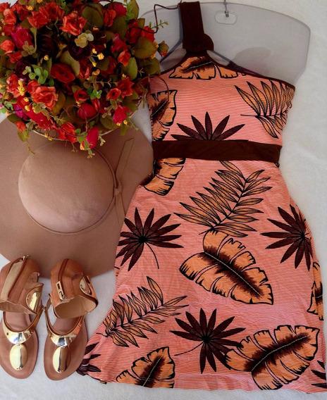 Vestido Estampa Tropical Tam P
