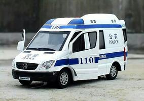 Miniatura Sprinter Ambulância Em Metal 1:32 Som E Luzes