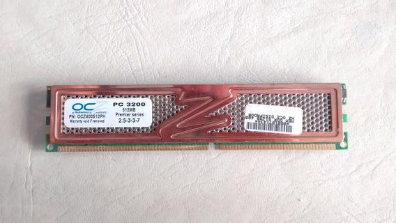 Memorias Ddr Ocz Pc3200 512mb C/ Disipador