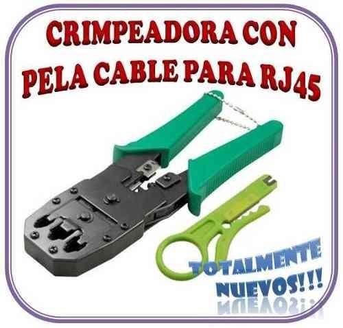 Ponchadora Crimpiadora Rj45, Rj11, Rj12 + Peladora De Cable
