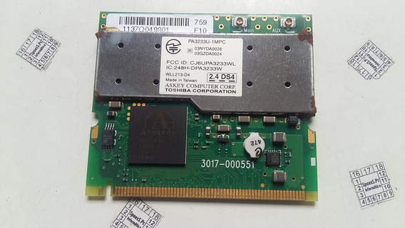 Placa Wireless Wi-fi Notebook Toshiba A25-s307 Pa3233u-1mpc