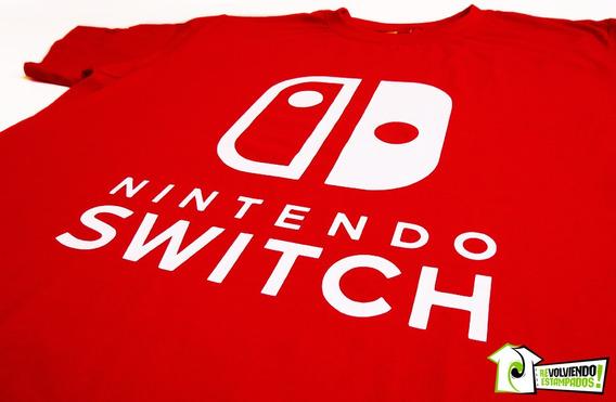 Poleras Y Polerones Estampados Logo Nintendo Switch