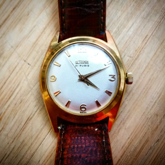 Reloj Para Dama Ultramar Vintage Carátula Blanca