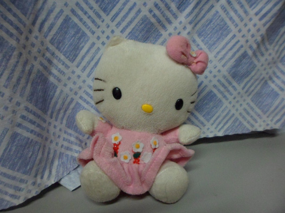 Pelucia Brinquedo Gata Hello Kitty 18cm Altura Usado