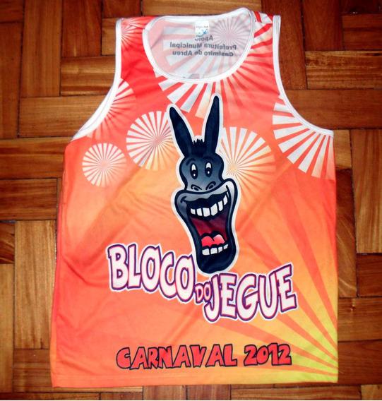 Camiseta De Carnaval Do Bloco Do Jegue - Rio De Janeiro.